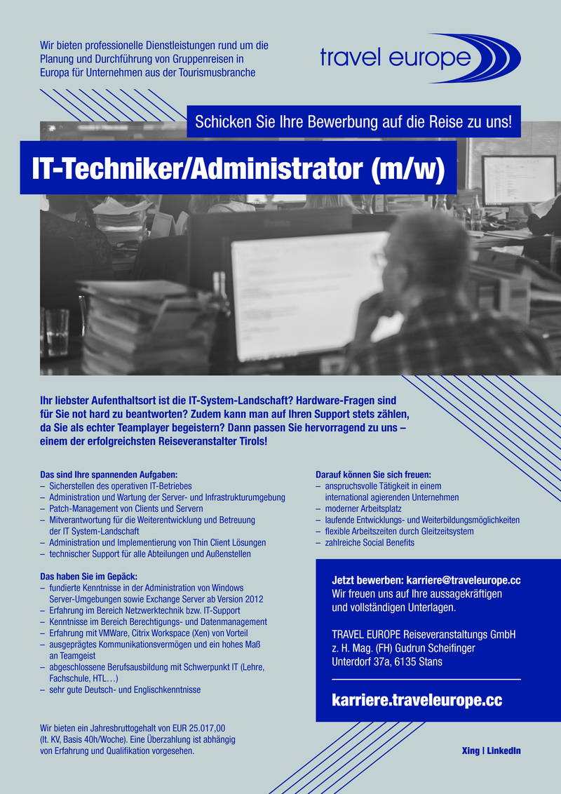 IT-Techniker/Administrator (m/w)