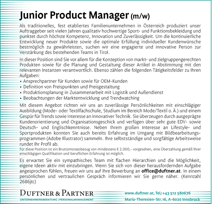 Junior Product Manager (m/w)
