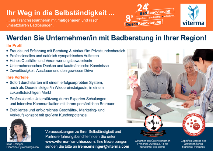 Badberater/in auf Franchisebasis