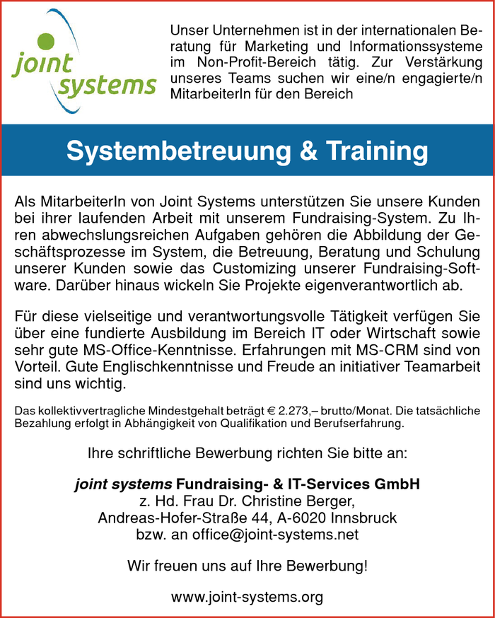 Systembetreuung & Training