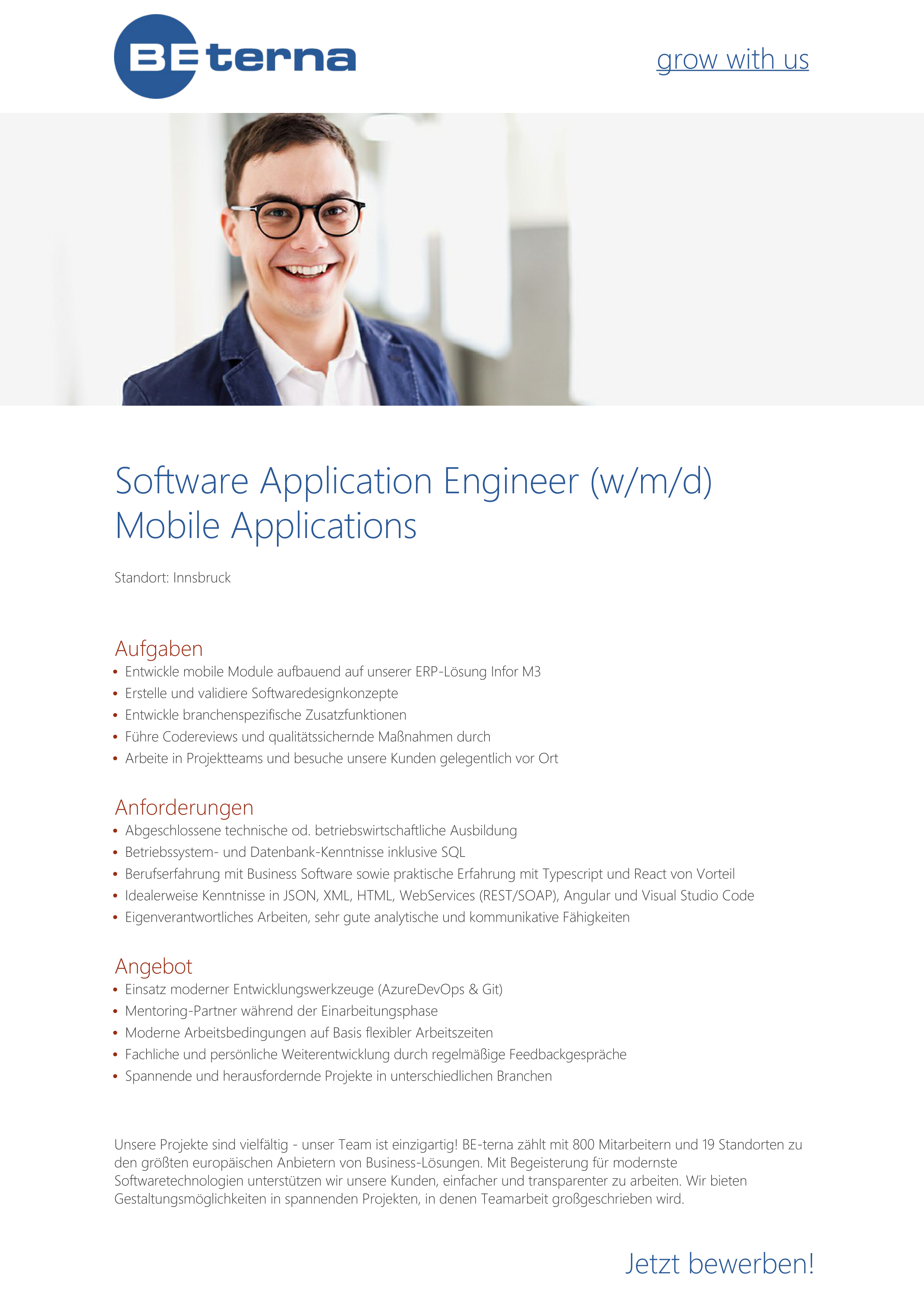 Software Application Engineer (w/m/d), Mobile Applications