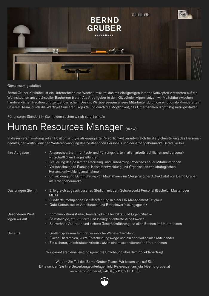 Human Resources Manager (m / w/ x)
