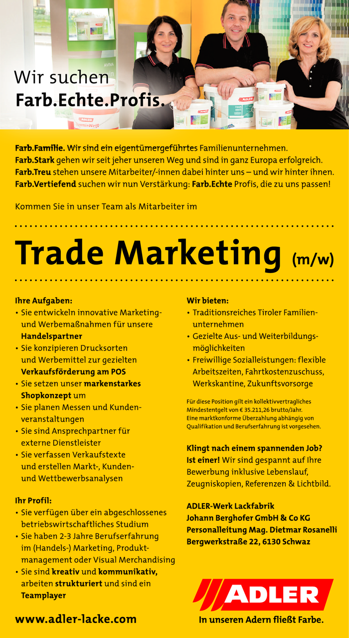 Mitarbeiter im Trade Marketing (m/w)