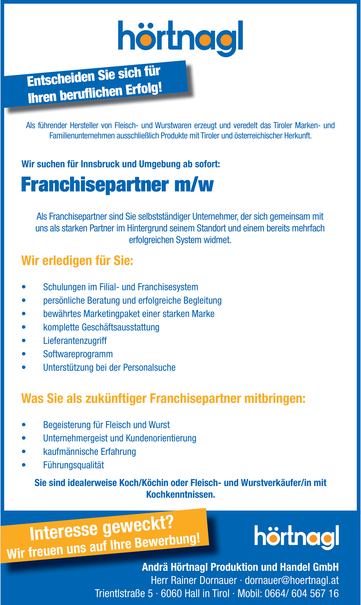 Franchisepartner m/w