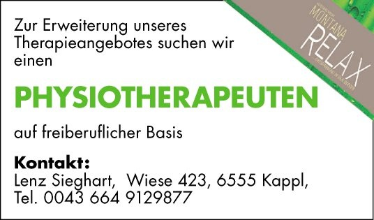Physiotherapeut/In