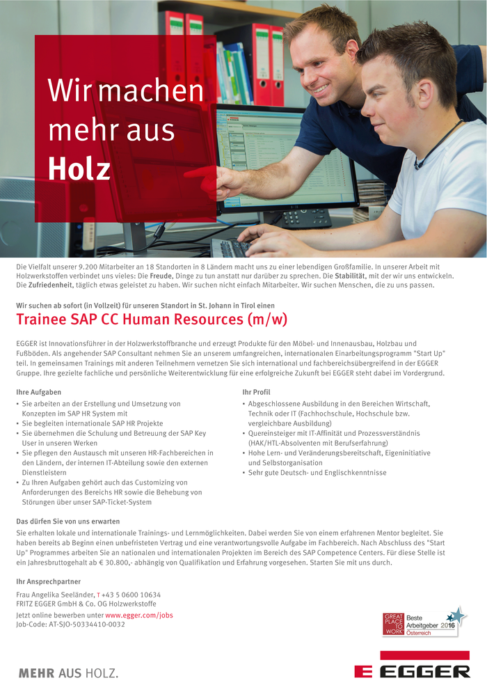 Trainee SAP CC Human Resources (m/w)