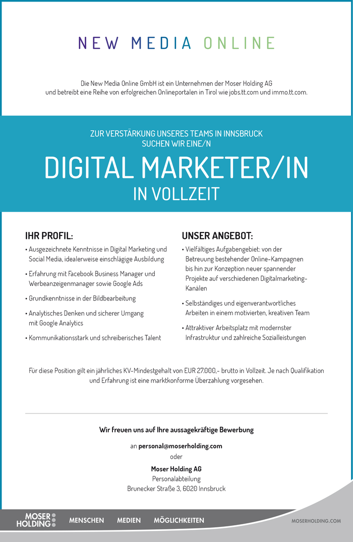DIGITAL MARKETER/IN