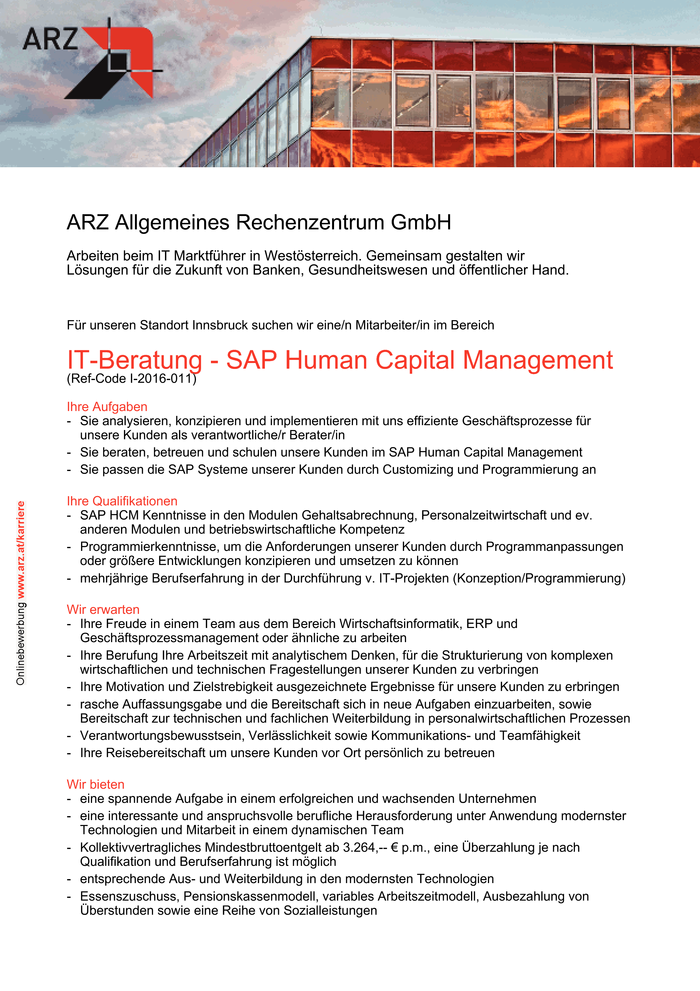 IT-Beratung - SAP Human Capital Management