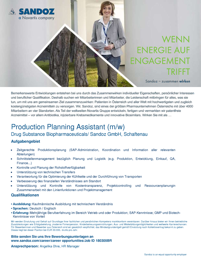 Production Planning Assistant (m/w)