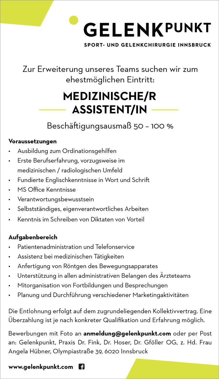 Medizinische/r Assistent/in