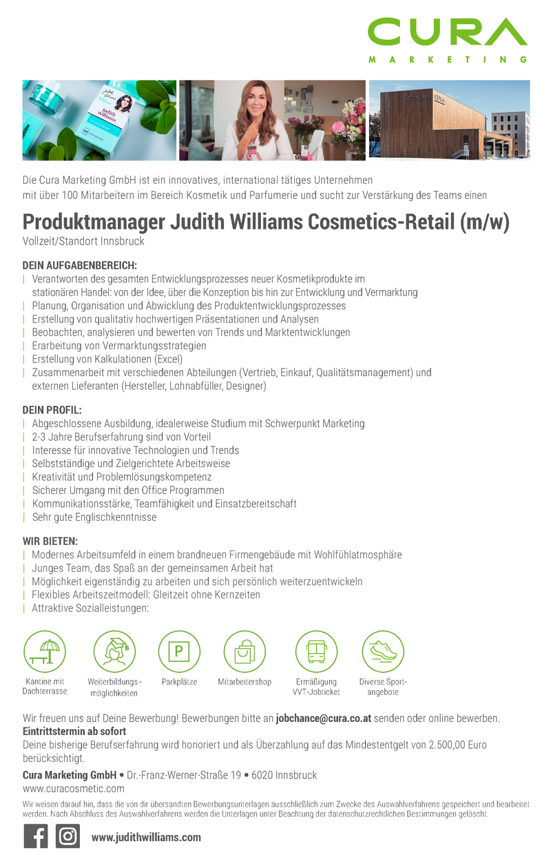 Produktmanager Judith Williams Cosemtics - Retail (m/w)