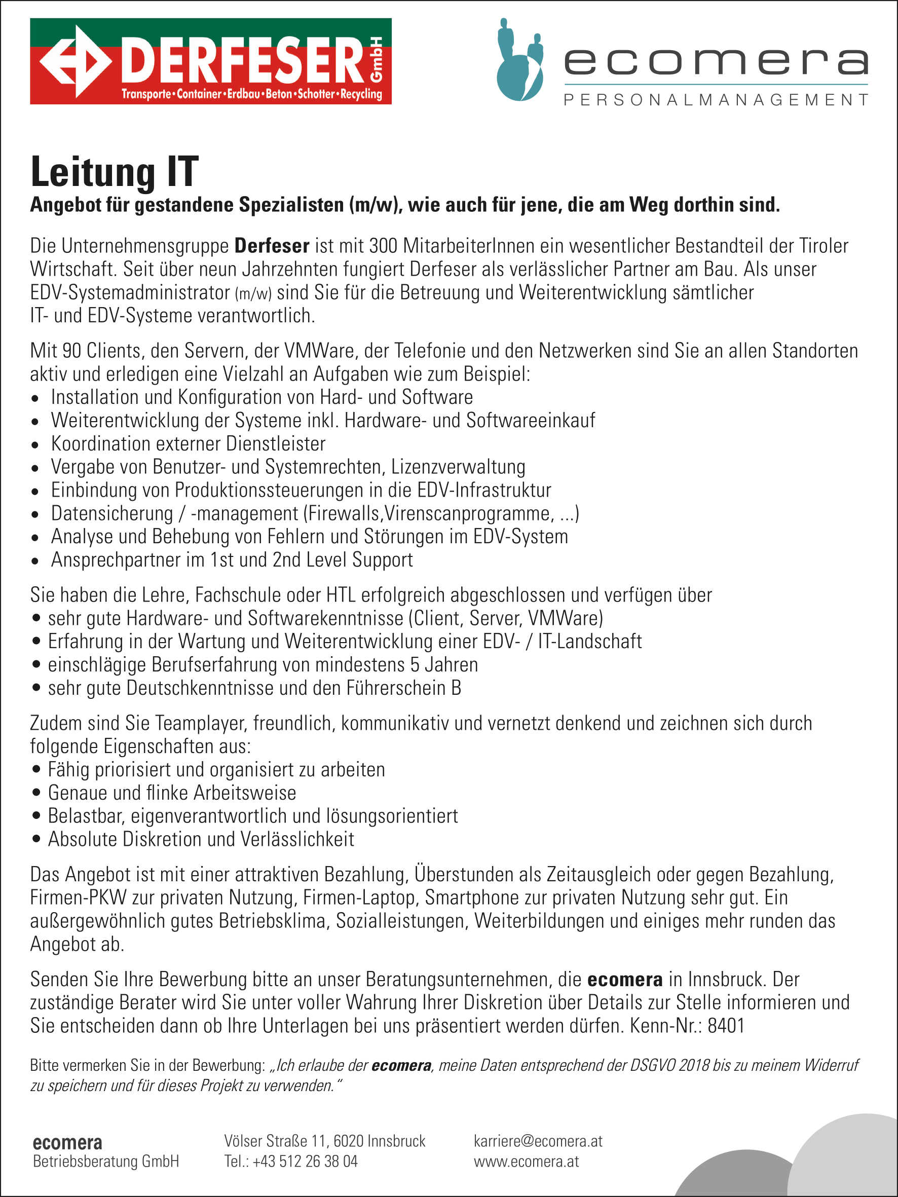 Leitung IT (m/w)