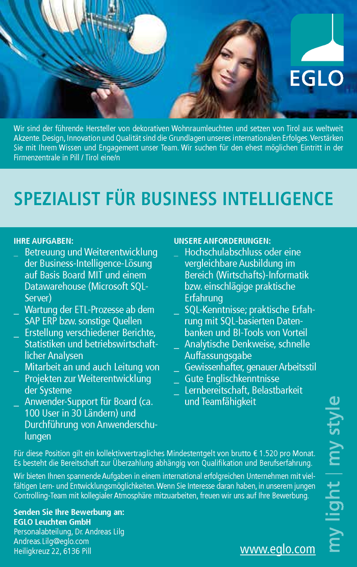 Spezialist für Business Intelligence