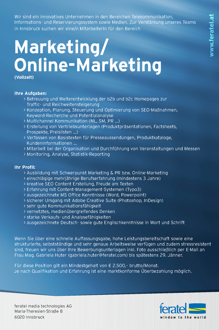 Marketing/ Online-Marketing