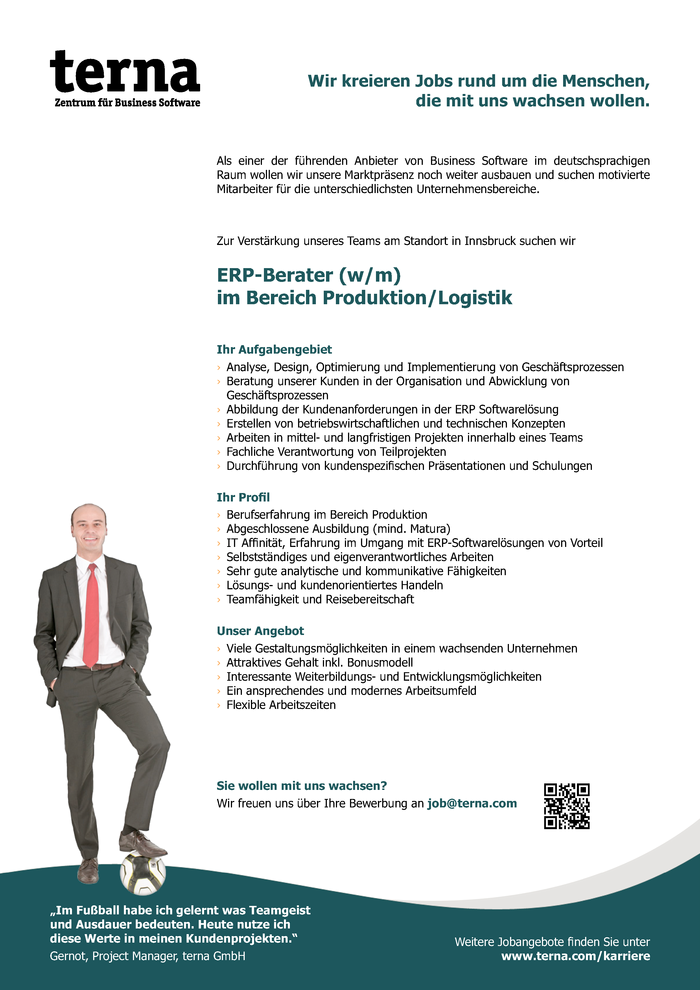 ERP-Berater (w/m) im Bereich Produktion/Logistik