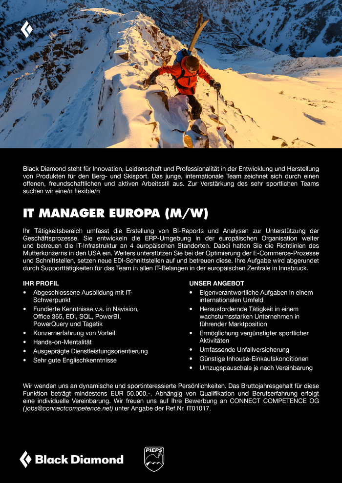 IT MANAGER EUROPA (M/W)