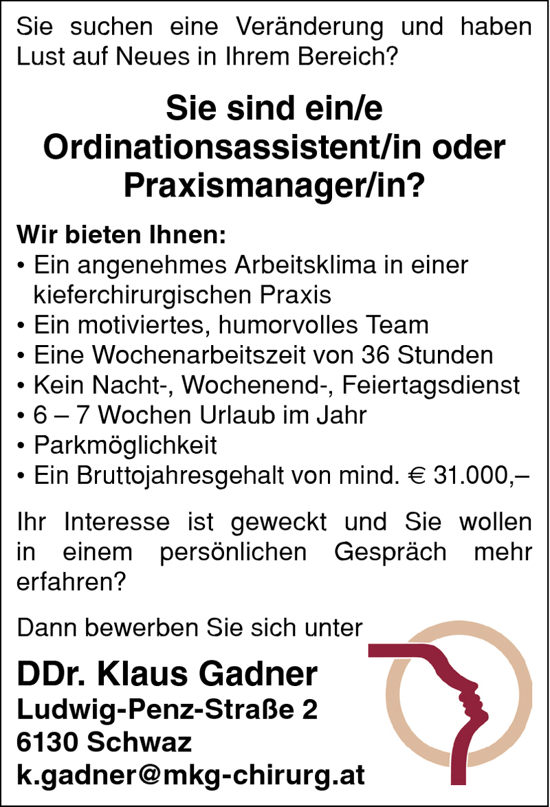 Ordinationsassistent/in / Praxismanager/in