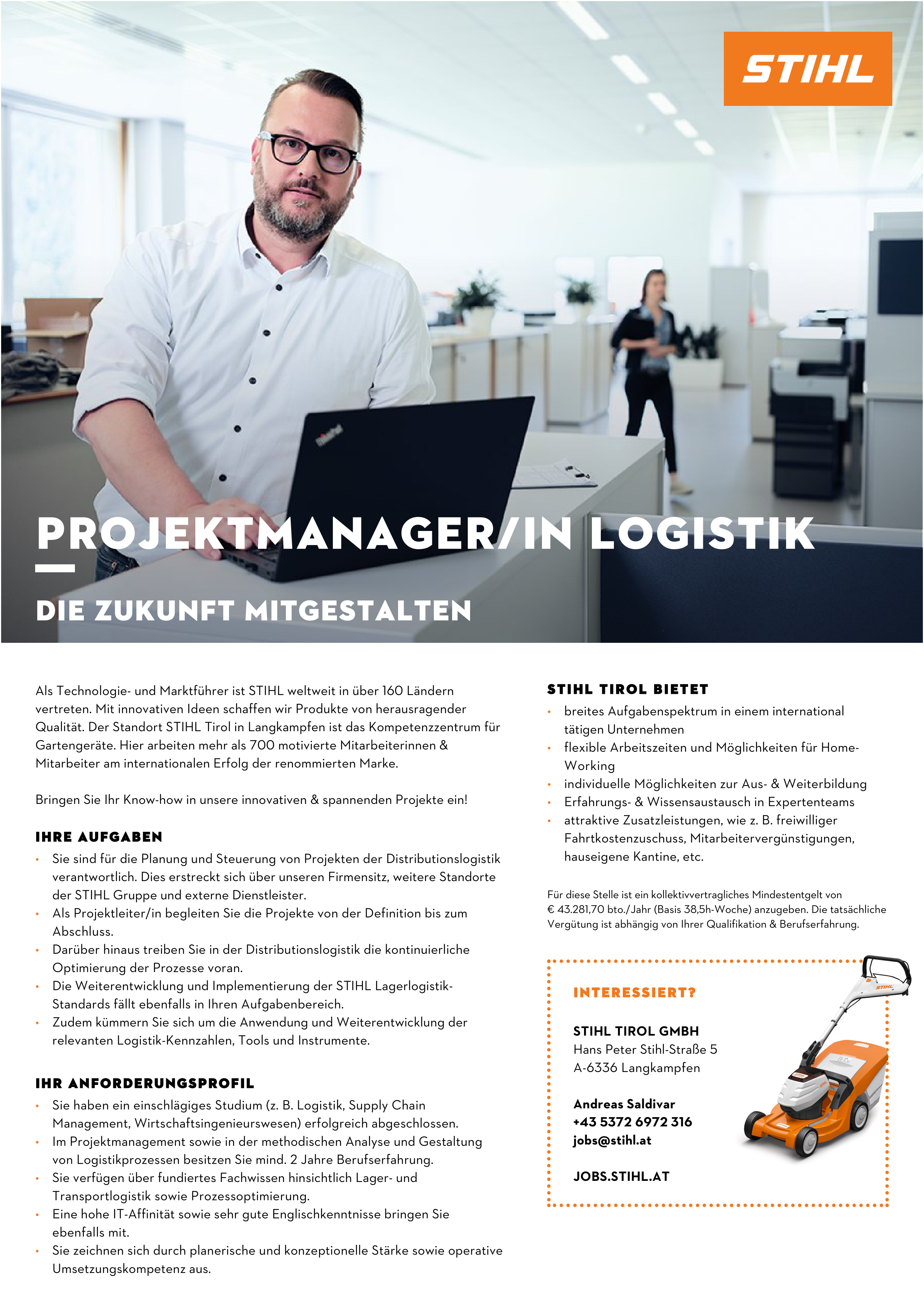 Projektmanager/in Logistik