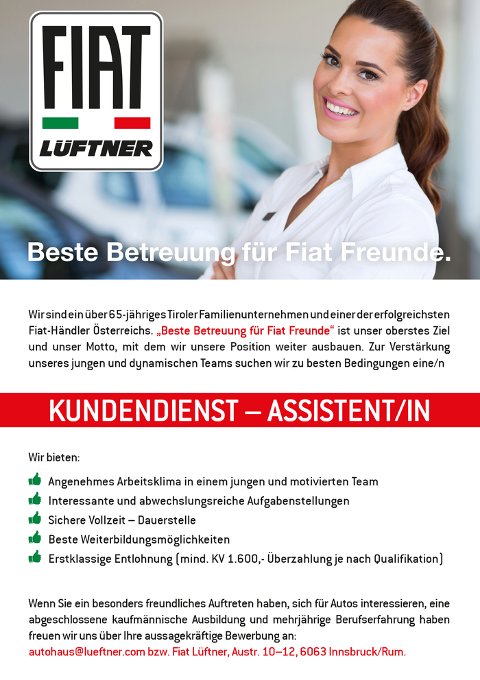 KUNDENDIENST – ASSISTENT/IN