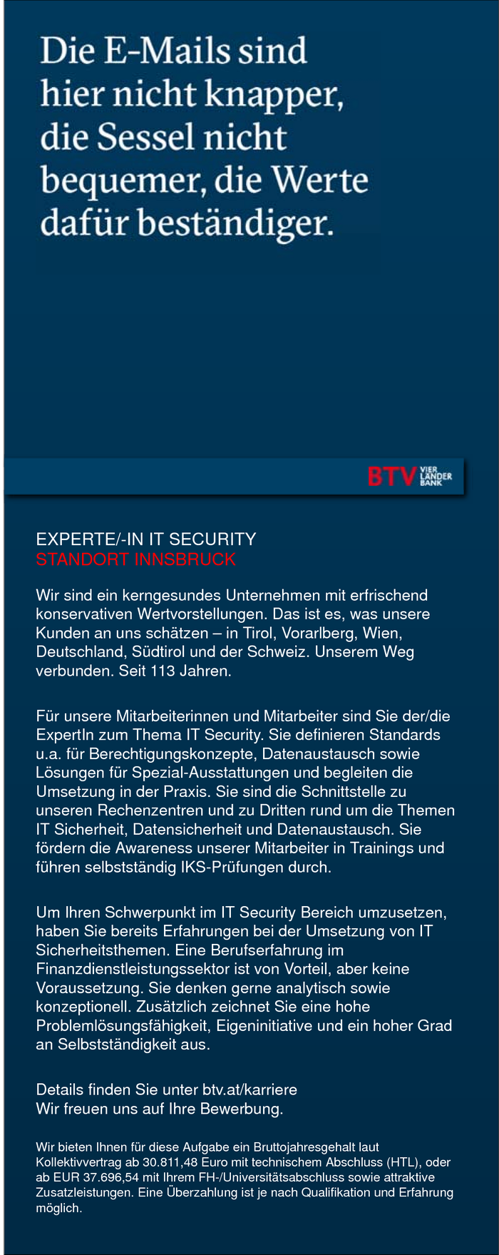 EXPERTE/-IN IT SECURITY