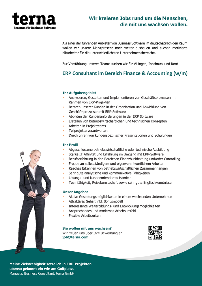 ERP Consultant im Bereich Finance & Accounting (w/m)