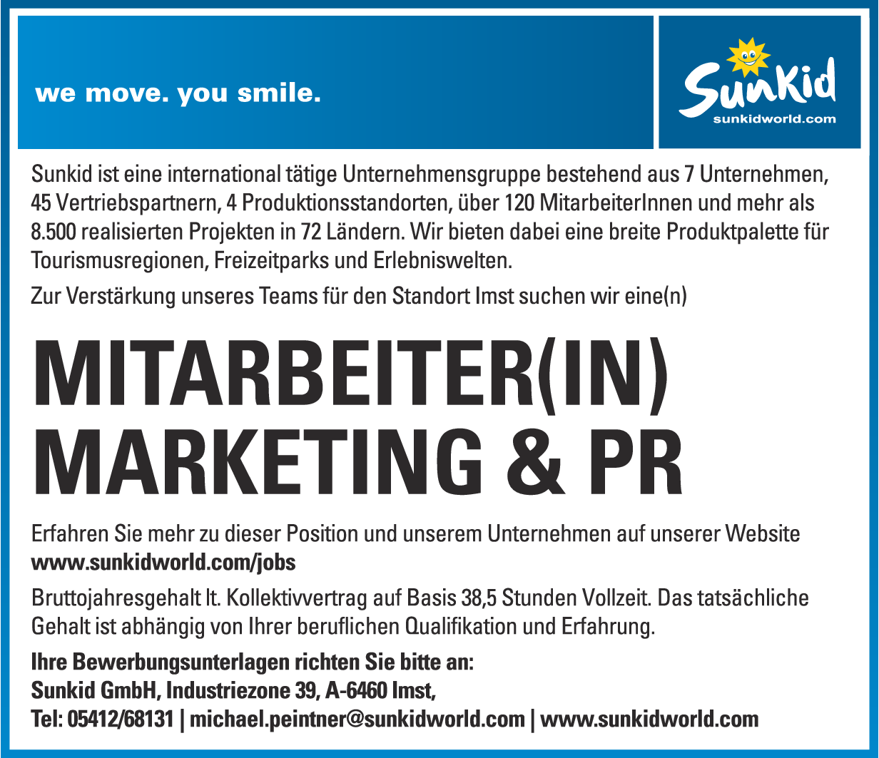 MITARBEITER(IN) MARKETING & PR