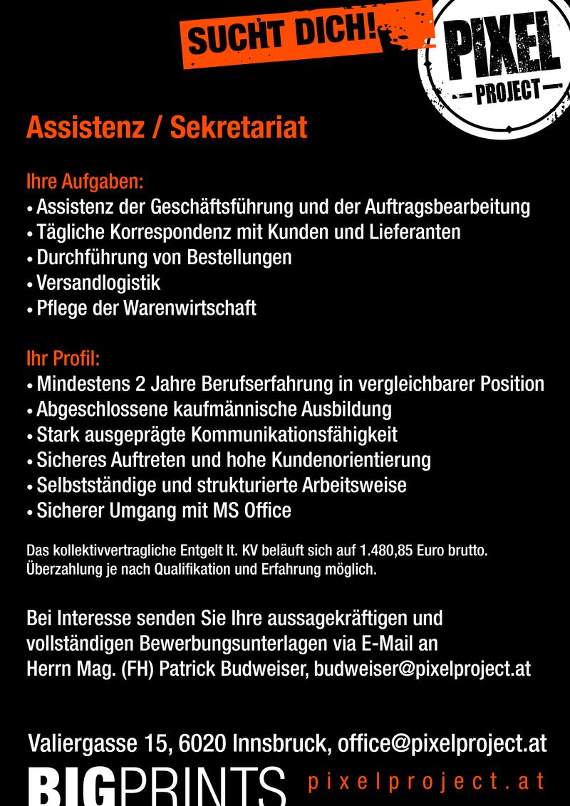 Assistenz Sekretariat Im Bezirk Innsbruck Stadt