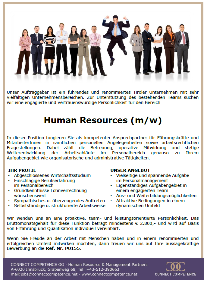 Human Resources (m/w)
