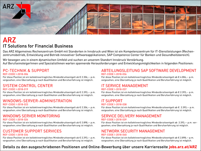 ARZ IT Solutions for Financial Business sucht...