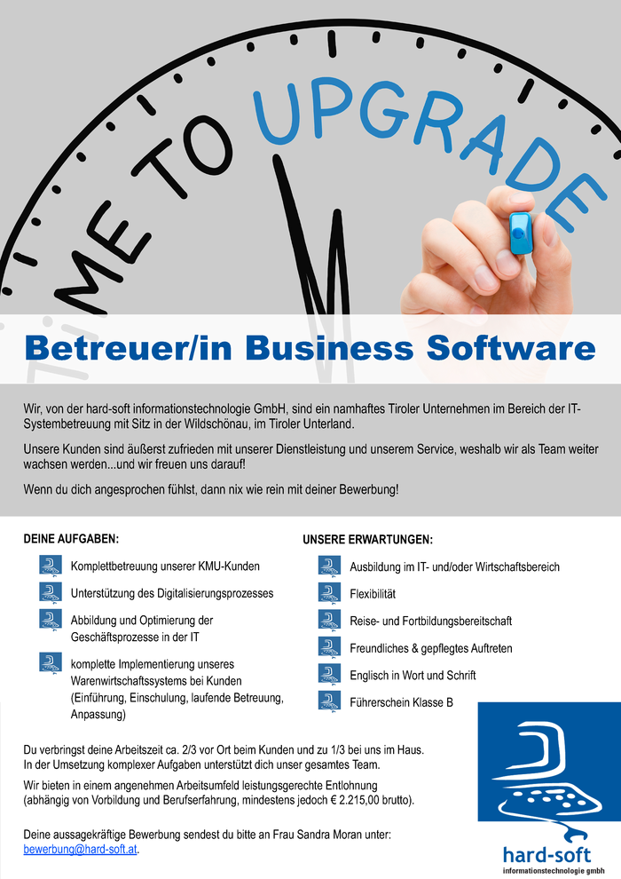 Betreuer/in Business Software