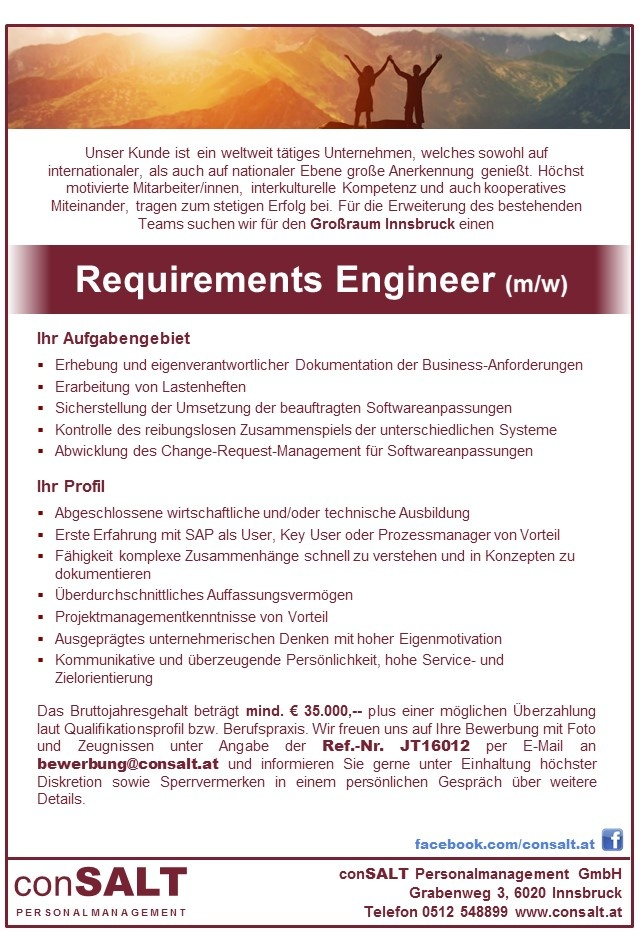 Requirements Engineer (m/w)