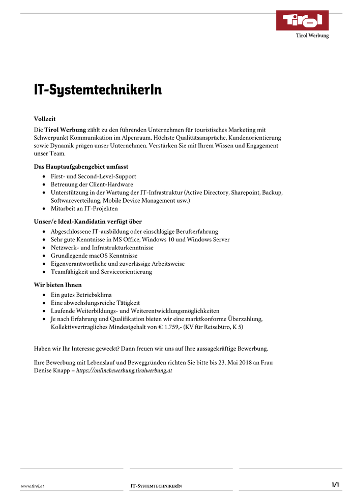 IT-SystemtechnikerIn
