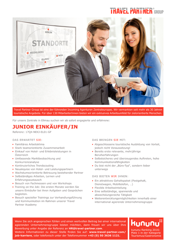 JUNIOR HOTELEINKÄUFER/IN