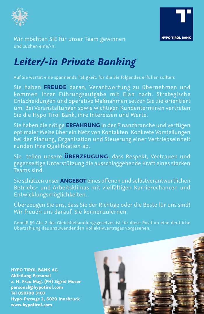 Leiter/-in Private Banking