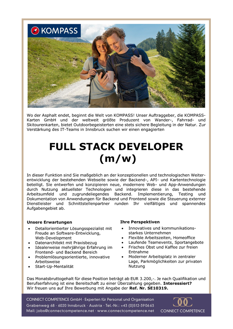 FULL STACK DEVELOPER (m/w)