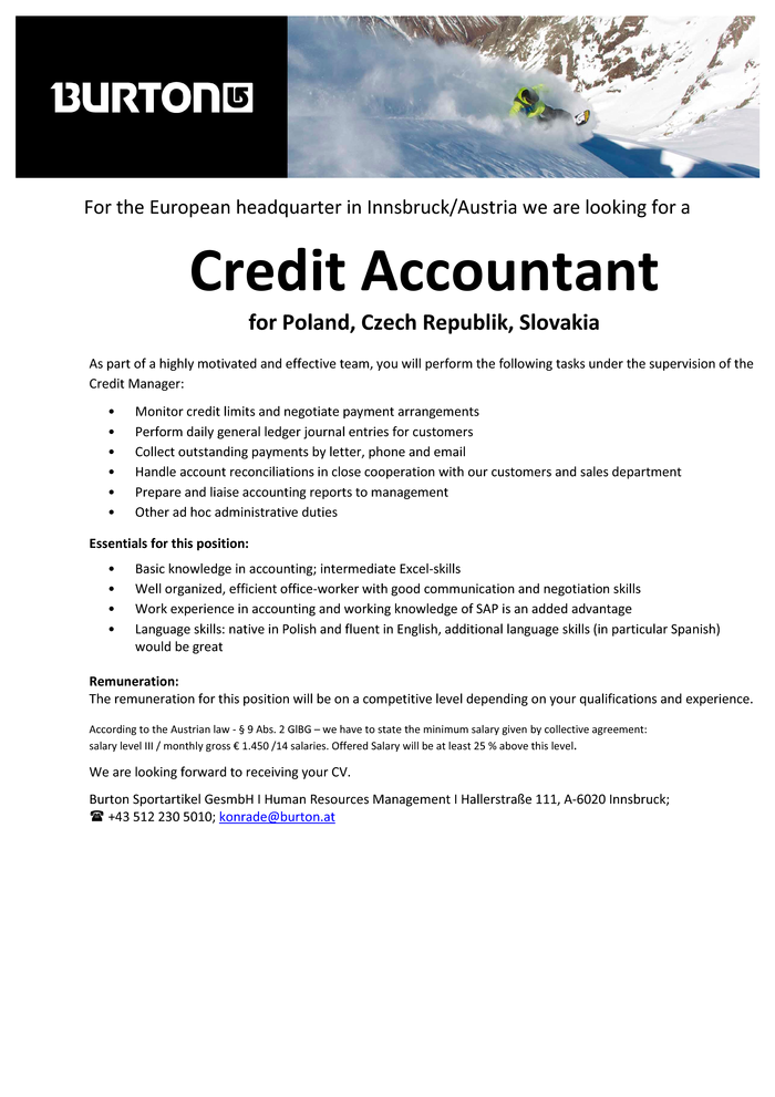 Credit Accountant