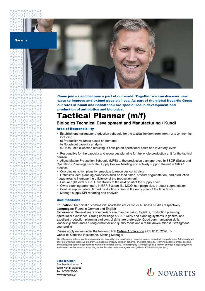 Tactical Planner (m/f)