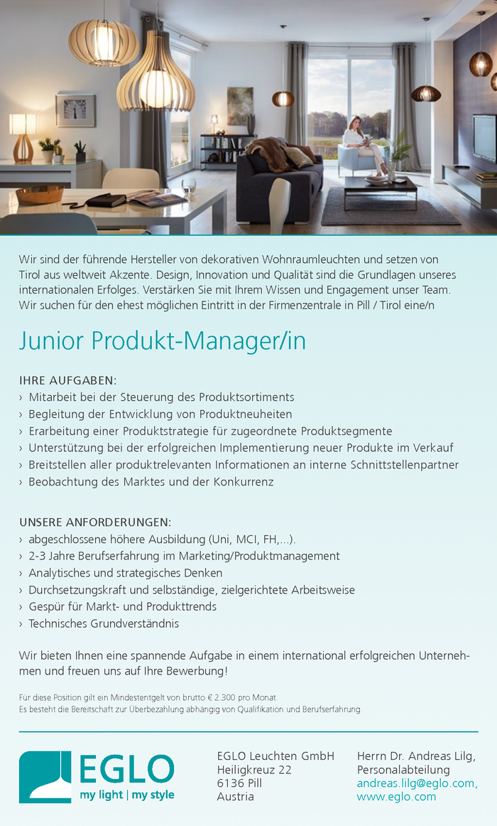 Junior Produkt-Manager/in