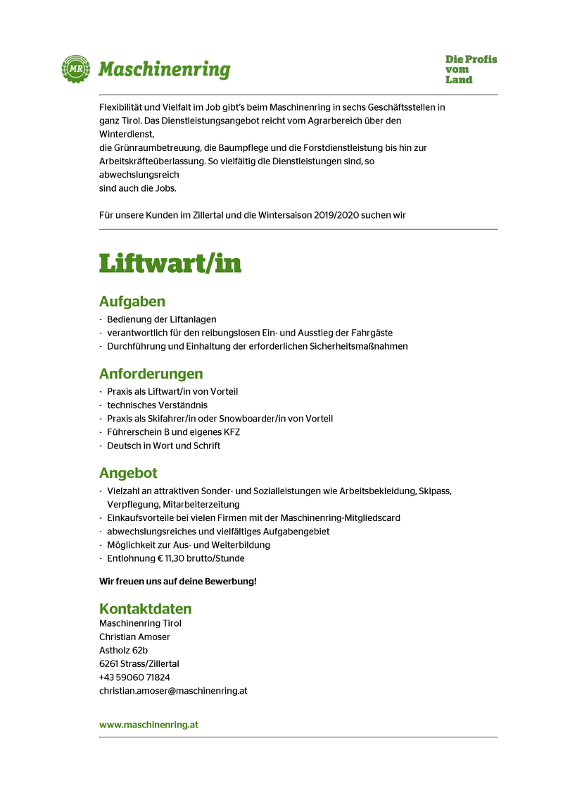 Liftwart/in