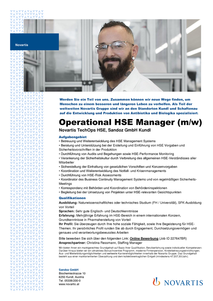 Operational HSE Manager (m/w)