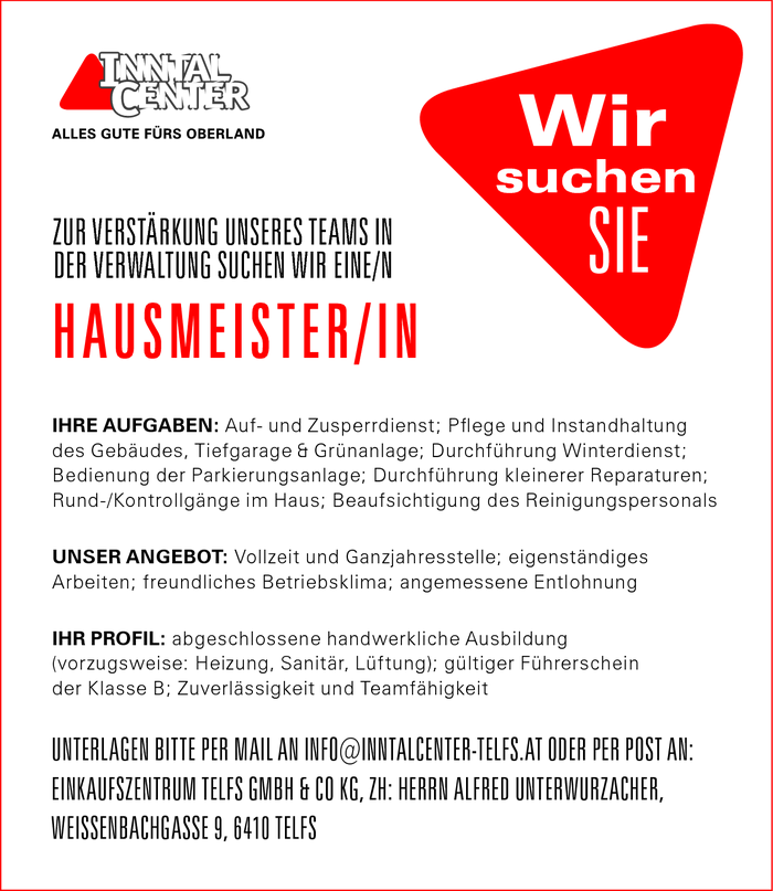 HAUSMEISTER / IN
