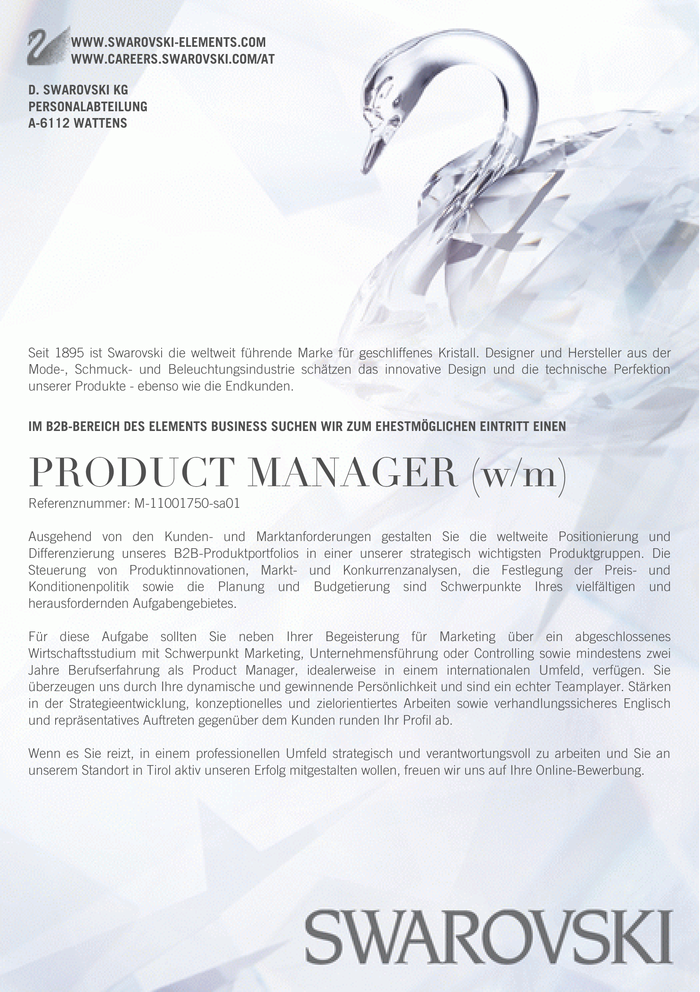PRODUCT MANAGER (w/m)