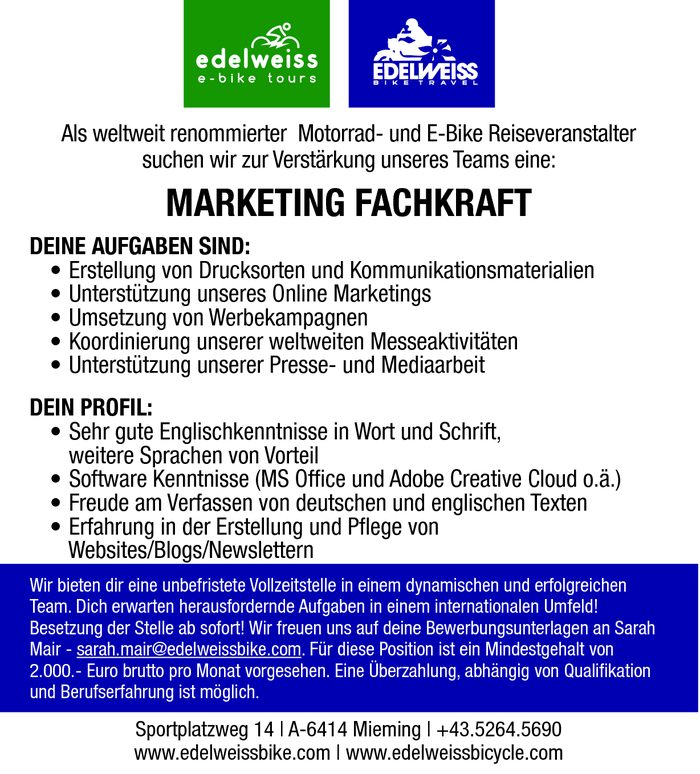 MARKETING FACHKRAFT