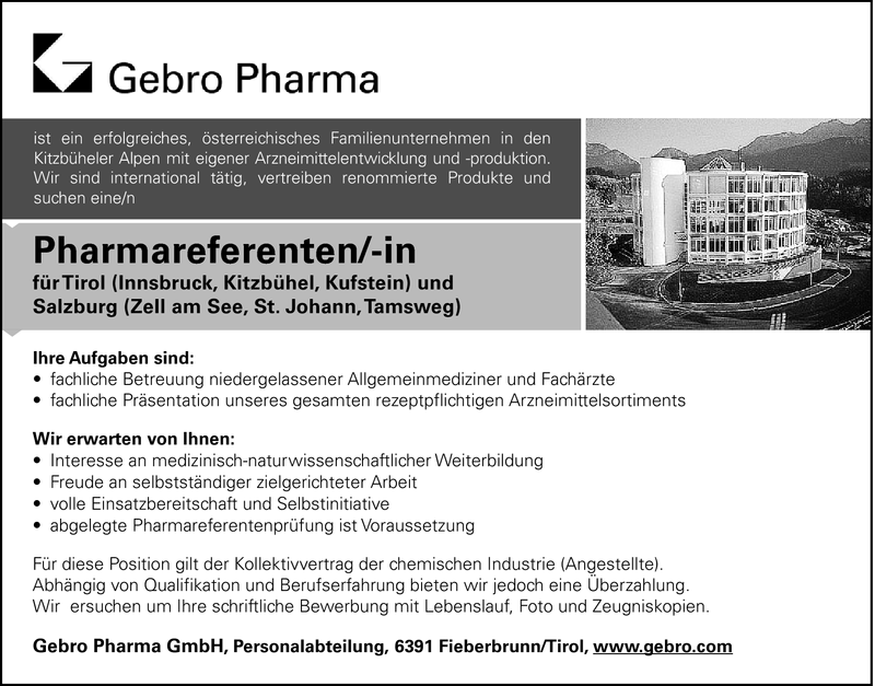 Pharmareferenten/-in