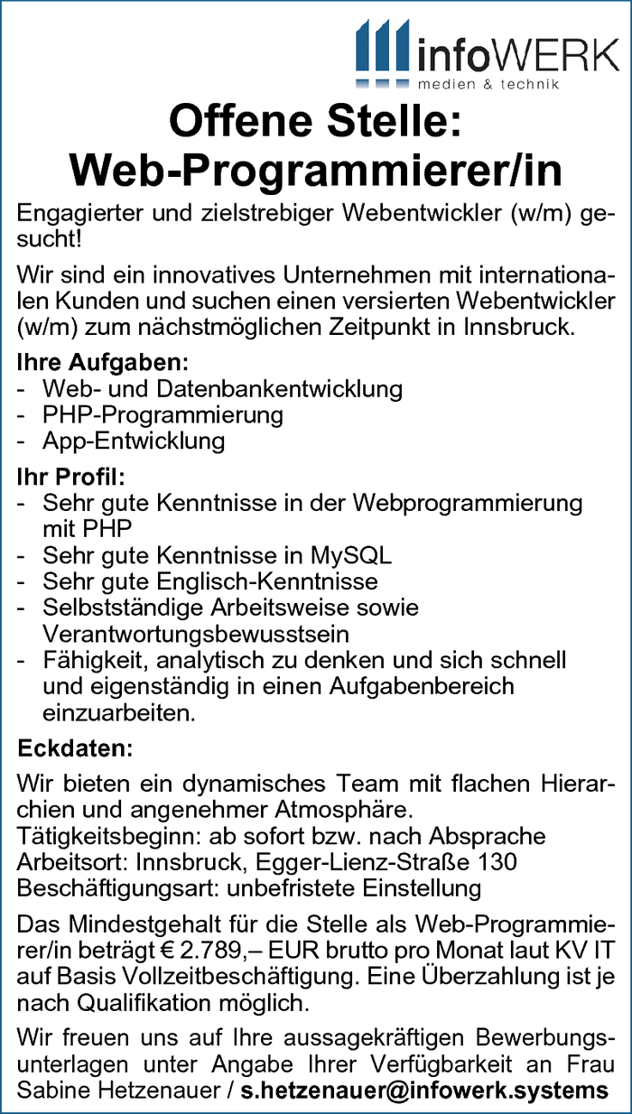 Web-Programmierer/in