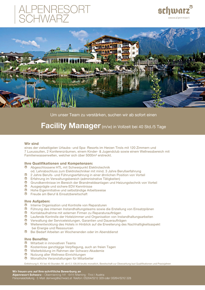 Facility Manager (m/w)