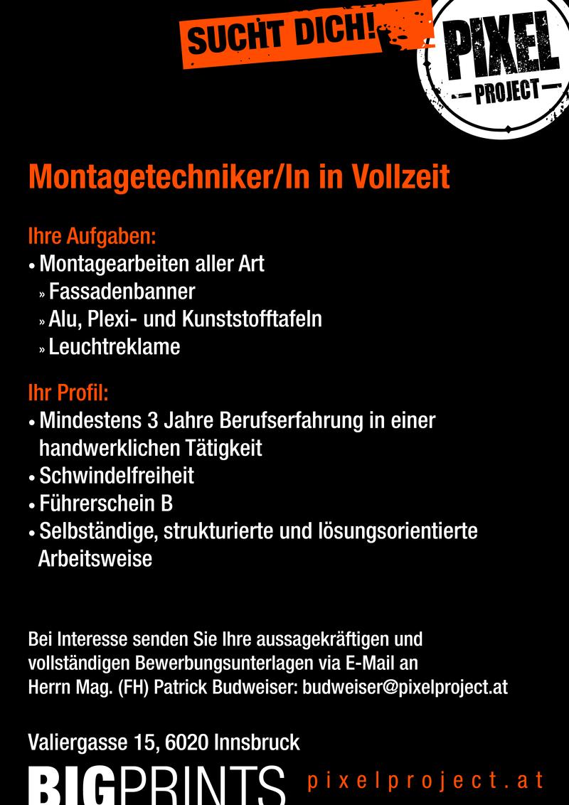 Montagetechniker In Vollzeit Im Bezirk Innsbruck Stadt