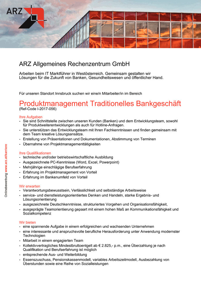 Produktmanagement Traditionelles Bankgeschäft