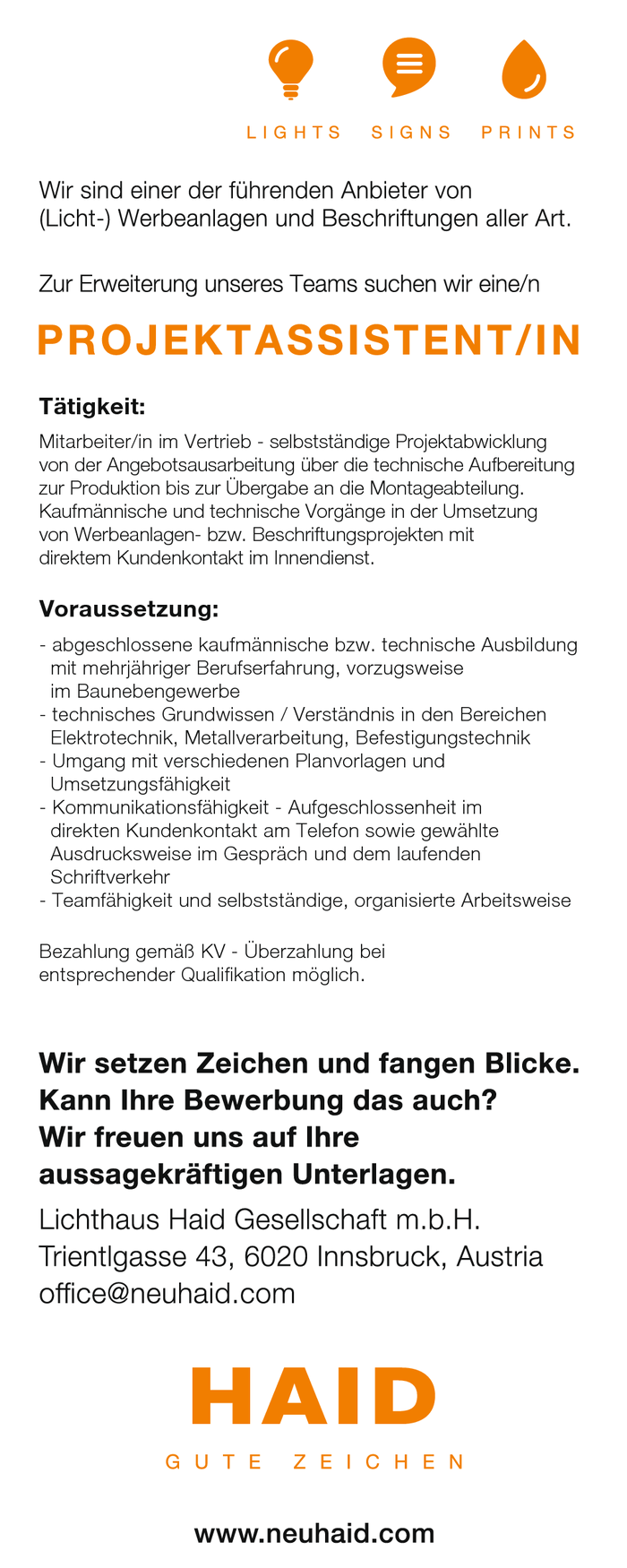 Projektassistent/in