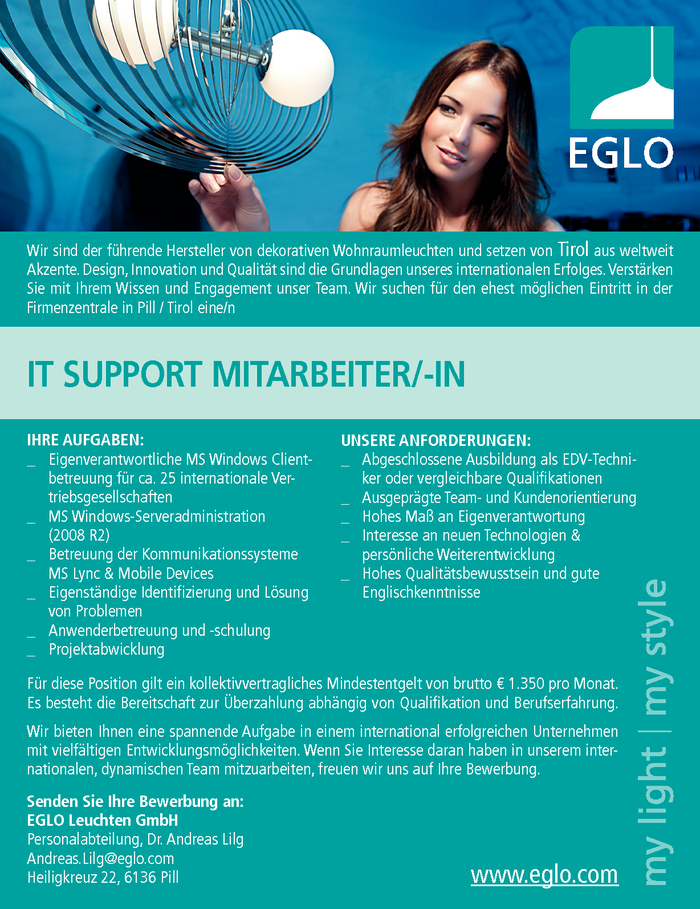 IT Support Mitarbeiter/in